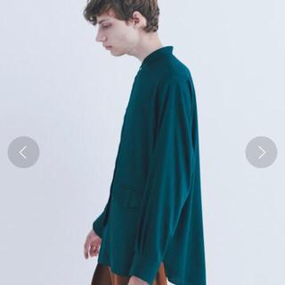 COMOLI - CULLNI 20SS スタンドカラーシャツ