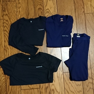モンベル(mont bell)のmont-bell モンベル ジオライン 上下 4枚セット 120cm(Tシャツ/カットソー)