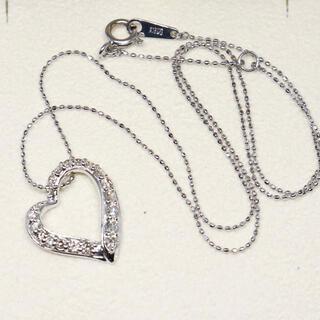 K18WG ハート ダイヤ 0.5カラット ネックレス(ネックレス)