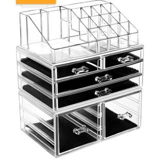 化粧品収納ボックス 透明アクリル コスメ収納ボックス メイクケース 引き出し(メイクボックス)