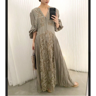 Ameri VINTAGE - MEDI EMBROIDERY TULLE LACE DRESS