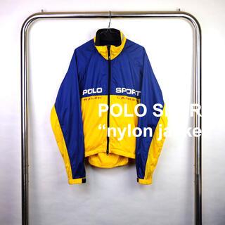 ラルフローレン(Ralph Lauren)の稀少 90s USA古着 ポロスポーツ ポロスポ ナイロンジャケット ラルフ M(ナイロンジャケット)