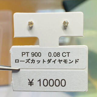 DE-15969 PT900 ピアス ローズカットダイヤモンド AANI アニ(ピアス)