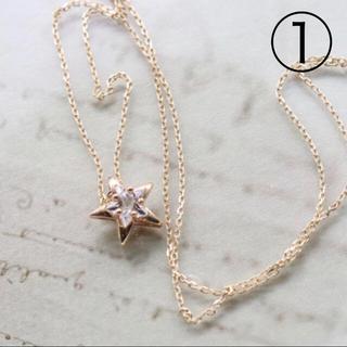 K10 ハート ネックレス ダイヤ(ネックレス)
