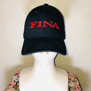 ジョンローレンスサリバン(JOHN LAWRENCE SULLIVAN)のvintage FINA フィナ ロゴ刺繍 企業ロゴ メッシュキャップ(キャップ)