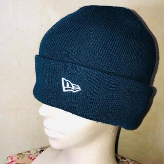 NEW ERA - vintage ニューエラ ロゴ刺繍 ニット帽 ビーニー