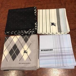 バーバリー(BURBERRY)の新品 バーバリー  BURBERRY メンズ ハンカチ 4枚セット(ハンカチ/ポケットチーフ)