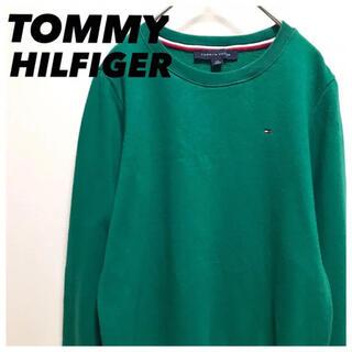 TOMMY HILFIGER - TOMMY HILFIGER•トミー•スウェット•S•グリーン•トレーナー