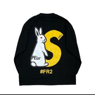 Supreme - SAPEur × FR2 ロゴプリント Tシャツ ロンT Lサイズ ブラック