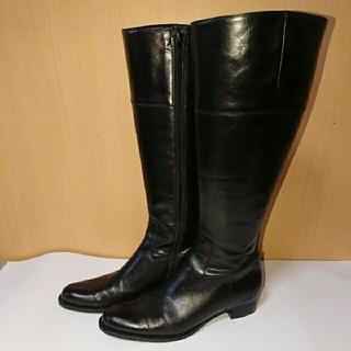 マリークラブ(Marie Club)の美品 Marie Club 黒ロングブーツ サイズ24.5cm(ブーツ)