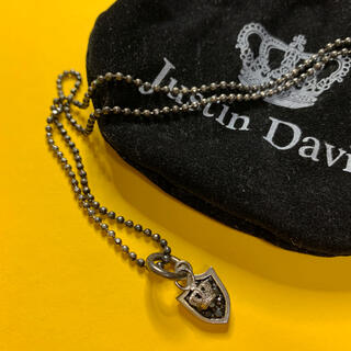 Justin Davis - Justin Davis SHIELD DOG TAG ネックレス 黒