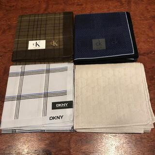 カルバンクライン(Calvin Klein)の新品 Calvin Klein DKNY メンズ ハンカチ4枚セット(ハンカチ/ポケットチーフ)