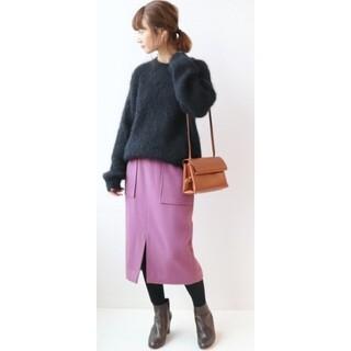 IENA SLOBE - イエナ スローブ タイトスカート ミモレ ウール 38 ピンク
