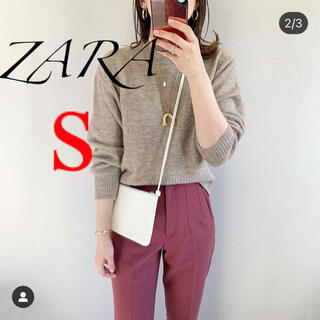 ZARA - 新品 ザラ ハイウエストパンツ マルサラ S