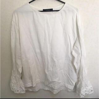 ダブルクローゼット(w closet)の白トップス(Tシャツ(長袖/七分))