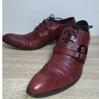 エムケーミッシェルクランオム(MK MICHEL KLEIN homme)のMICHEL KLEIN homme PARIS朱茶色革靴41  25cm(ドレス/ビジネス)