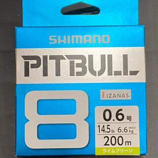 シマノ(SHIMANO)の新品 PITBULL 8 0.6号 200m 14.5lb ライムグリーン(釣り糸/ライン)