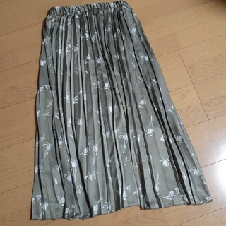 ZARA - フラワー柄 プリーツスカート