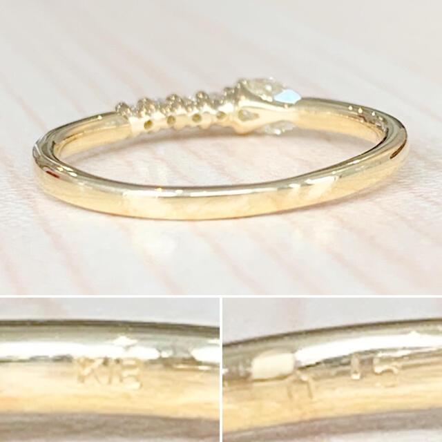 ✨可憐✨ペアシェイプ❣️ダイヤモンド!ダイヤ K18 18金 リング 指輪 レディースのアクセサリー(リング(指輪))の商品写真