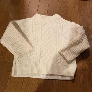 petit main - ☆プティマイン ☆M size 可愛いケーブル編みセーター