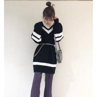 WEGO - WEGO 韓国ファッション ニットワンピース セーター トップス 即日発送