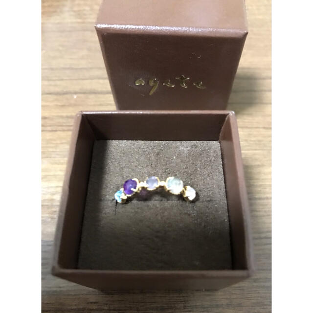 agete(アガット)のagate  指輪 アイオライト ブルートパーズ アメジスト  ラブラドライト  レディースのアクセサリー(リング(指輪))の商品写真