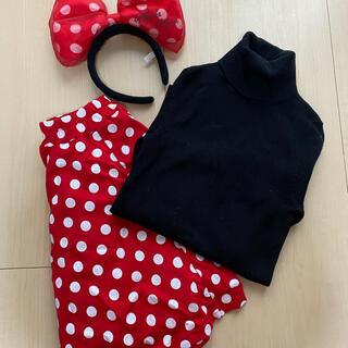 ディズニー(Disney)のミニー ドットフレアスカート(ひざ丈スカート)