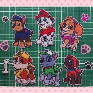 [パウパトロール ワッペン] No.84 アイロンワッペン 入学 入園 目印 犬