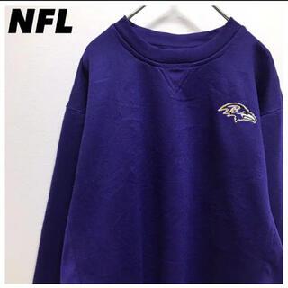 NFL•スウェット•刺繍ロゴ•ワンポイント•パープル•紫•トレーナー