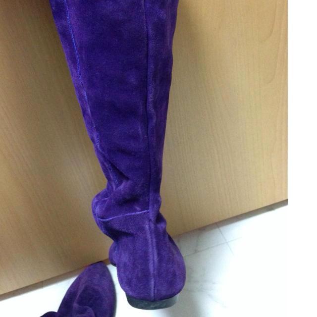 古着屋さん❤️パープルロングブーツ❤️ レディースの靴/シューズ(ブーツ)の商品写真
