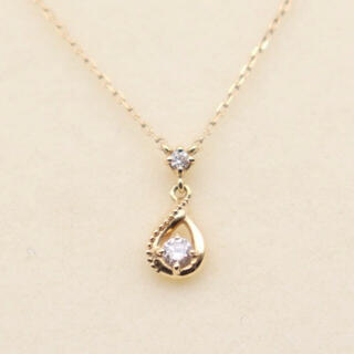 ヴァンドームアオヤマ(Vendome Aoyama)のヴァンドーム青山 k18 ネックレス ドロップ  ダイヤ(ネックレス)