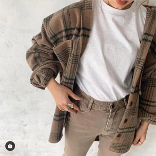 SeaRoomlynn - check wool shirts coat flugge フラッジー ブラウン