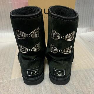UGG - 【美品】UGG スワロ クリスタルボウ ムートンブーツ レディース