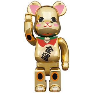 MEDICOM TOY BE@RBRICK 招き猫 金メッキ 金運 弍400%(その他)