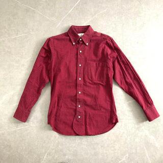 ブラックフリース(BLACK FLEECE)の《BLACK FLEECE チェックシャツ レッドネイビー》米国製(シャツ)