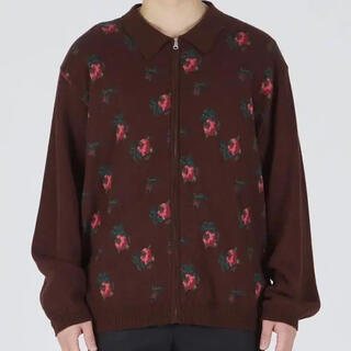 ttt msw flower knit polo ブラウン