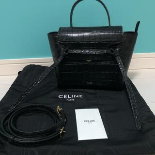 celine - 【CELINE】ベルトバック ナノ クロコ