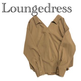ラウンジドレス(Loungedress)のLoungedress  抜襟デザイン スキッパーブラウス ブラウン sizeF(シャツ/ブラウス(長袖/七分))