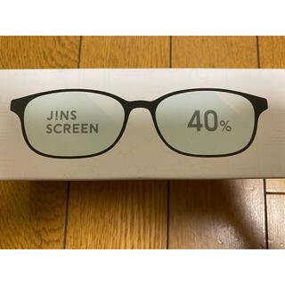 ジンズ(JINS)のJINS 40%ブルーライトカットメガネ マットブラック(サングラス/メガネ)