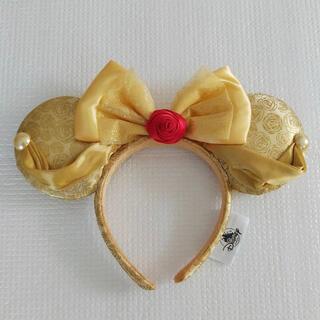 Disney - 海外ディズニー❣️新品美女と野獣ベルイエローローズリボンカチューシャ 薔薇黄色