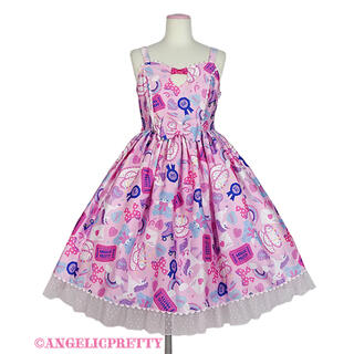 Angelic Pretty - Girly Stickerジャンパースカート