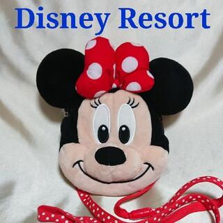 Disney - ディズニーリゾート ミニー ぬいぐるみ ポーチ ポシェット パスケース