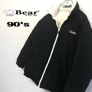 Bear USA - 美品 90's Bear USA 肉厚ダウンジャケット 刺繍ロゴ メンズL