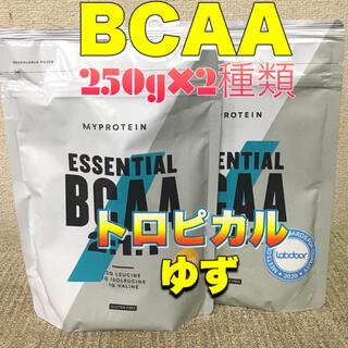 マイプロテイン(MYPROTEIN)のマイプロテイン  BCAA 250g×2種類     トロピカル&ゆず(アミノ酸)