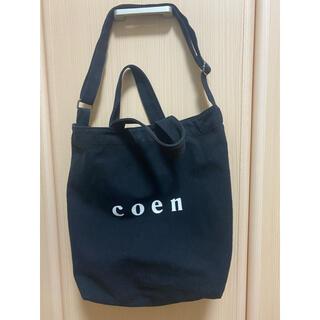coen - coen 2wayロゴトートバッグ