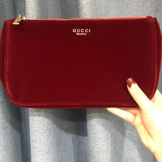 Gucci - 新品 グッチ ポーチ 香水限定 ベロア ノベルティ ワインレッド 大