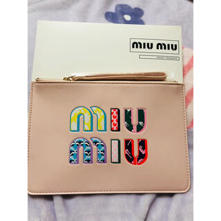 miumiu - sale 最新 ミュウミュウ    ノベルティ ポーチ ピンク 箱付き
