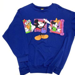メンズ レディース Disney ミッキー ミニー レア スウェット ビッグロゴ(スウェット)