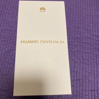 ANDROID - HUAWEI nova lite 3+ ブルー 128GB