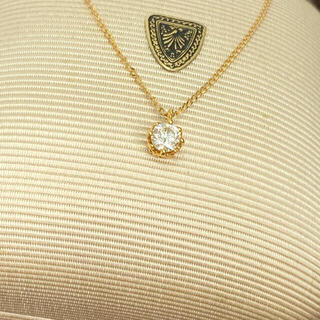 agete - agete アガット ダイヤネックレス K18 0.2ct